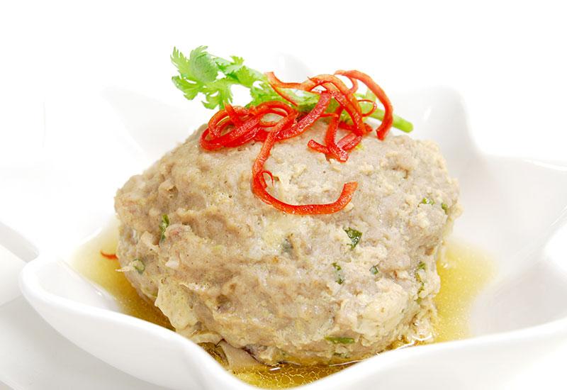 ムーサップ・ヌン・プラーインシー・ケム(豚ひき肉と塩漬け魚の蒸しもの)