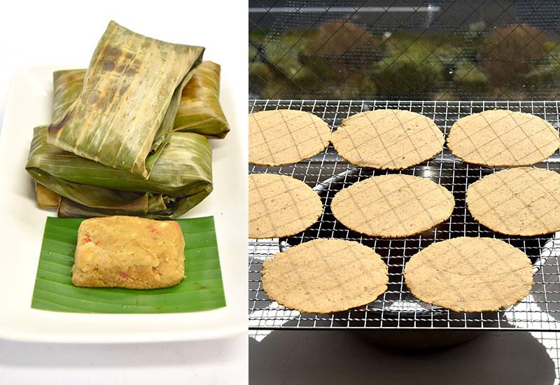 トゥアナオ・ケップ・レ・トゥアナオ・ム(トゥアナオ(タイの納豆)作り 2種)
